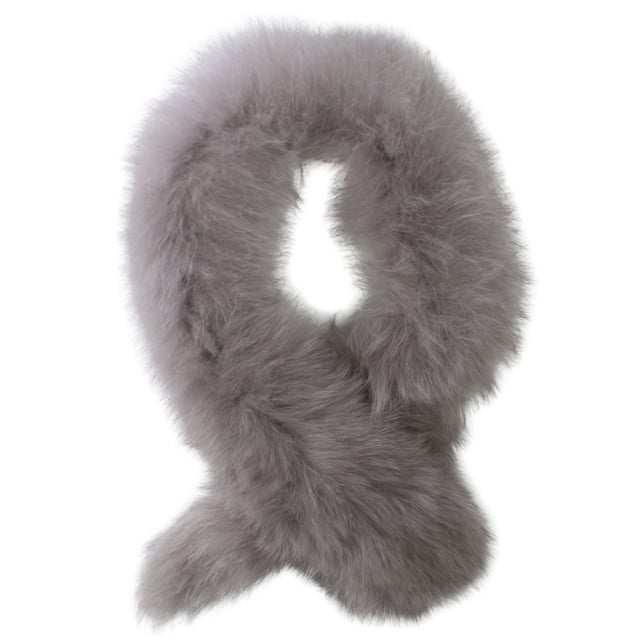 Little Red Grey Fur Clip Stole