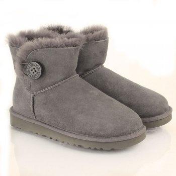 ugg grey mini bailey button women s boot rh danielfootwear com