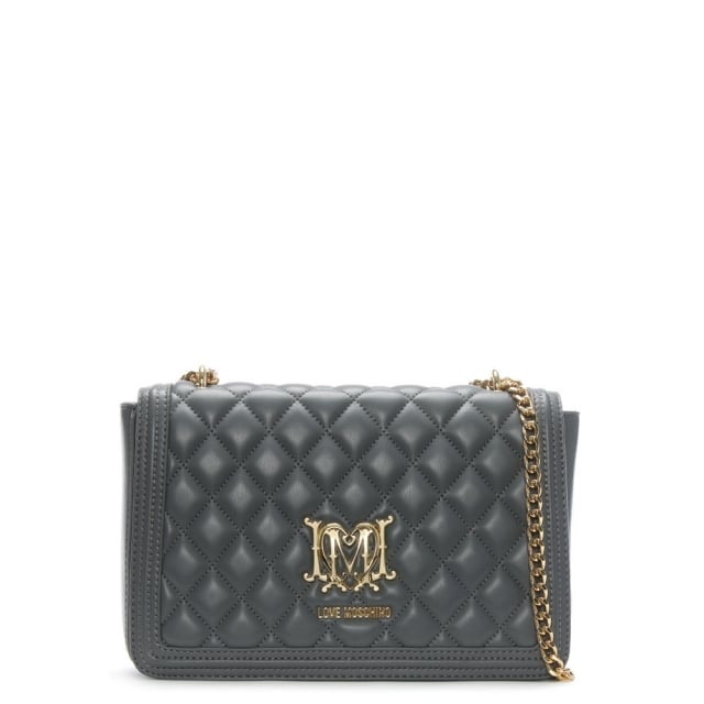 Love Moschino Grey Quilted Shoulder Bag