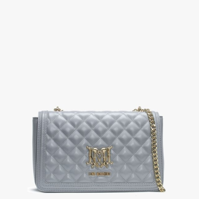 3535cb1ca105 Love Moschino Grey Quilted Shoulder Bag