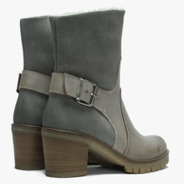 find lowest price for sale pretty and colorful Grey Suede Fleece Lined Ankle Boots