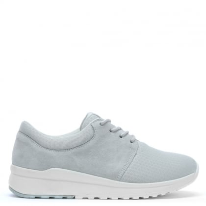 Grey Suede & Mesh Sporty Trainers
