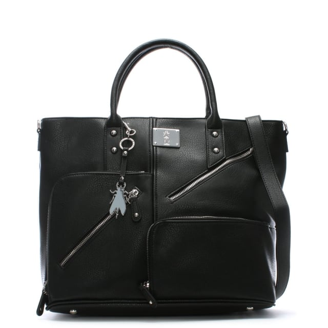 guip-black-asymmetric-zips-day-bag