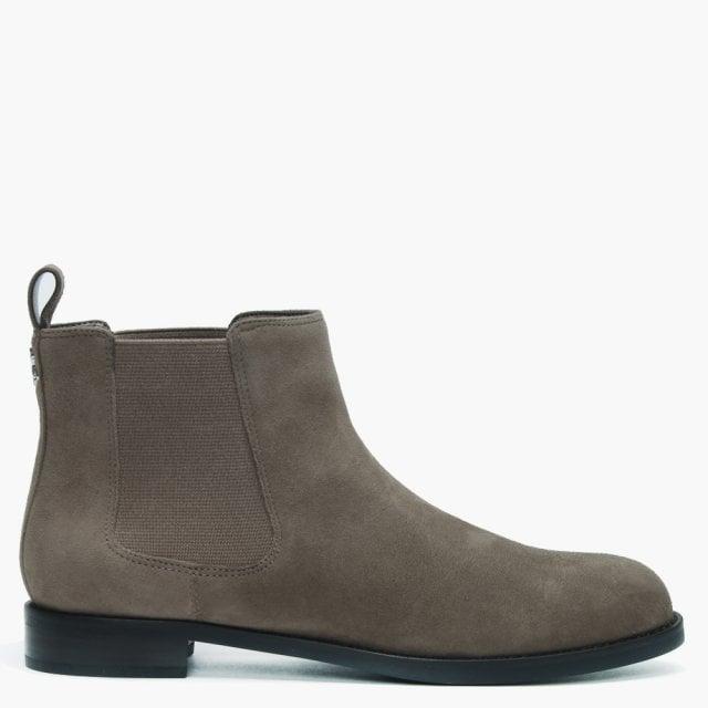 Lauren Ralph Lauren Haana Taupe Suede Chelsea Boots