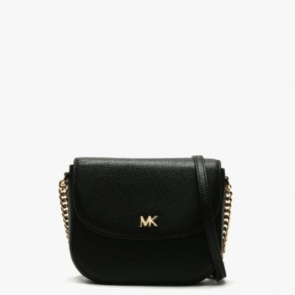 60a3f4e861b5 Half Dome Black Leather Cross-Body Bag. Free Standard UK Delivery. Michael  Kors ...