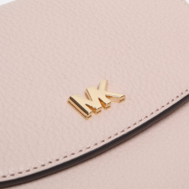 94658b0a5a68 Michael Kors Half Dome Soft Pink Pebbled Leather Cross-Body Bag