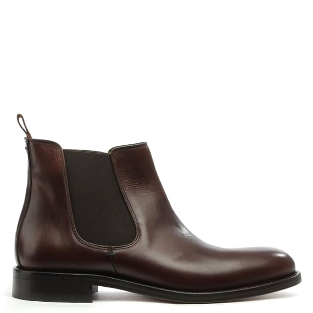 Halmshaw Brown Leather Chelsea Boot