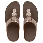 a9d139e3593 FitFlop Halo Rose Gold Leather Toe Post Sandals