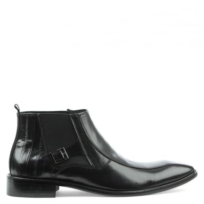 Halstock Black Leather Chelsea Boot