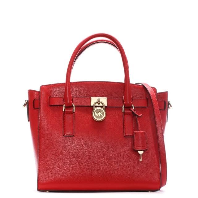 Hamilton Bright Red Leather Satchel Bag