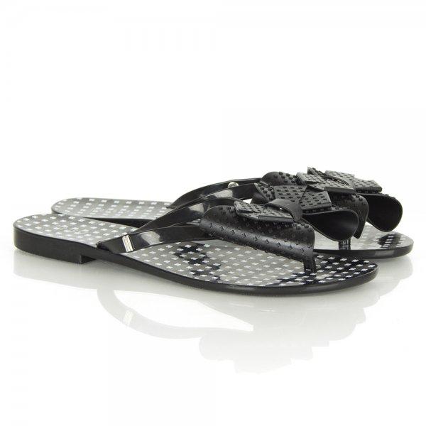 95c42c5a764e Melissa Harmonic Bow II Black Toe Post Sandals