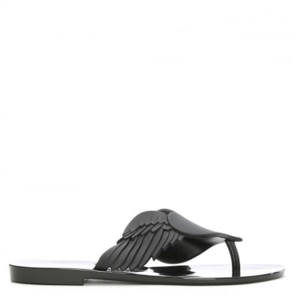 Harmonic Cherub Black Rubber Toe Post Flip Flop