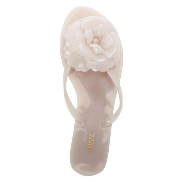 Melissa Harmonic Flower White Flip Flops