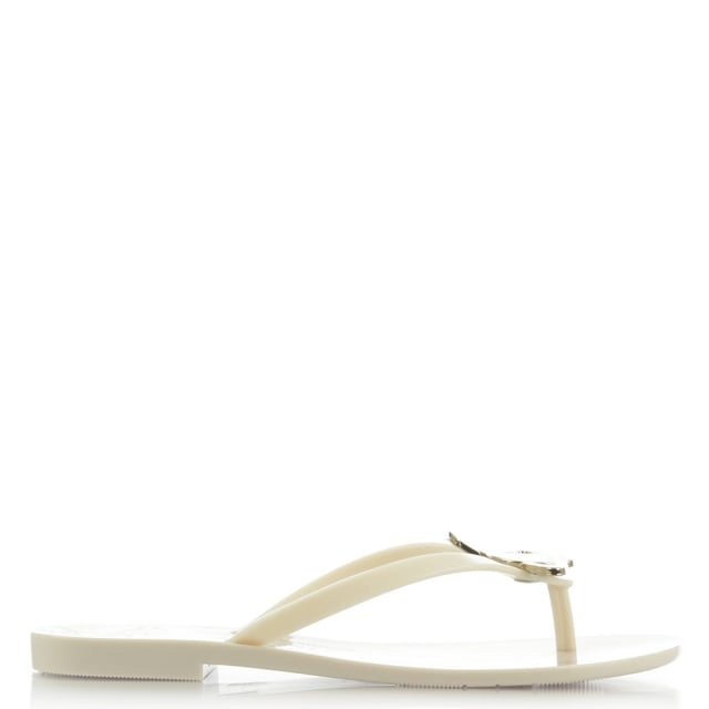 Harmonic Orb White Toe Post Flip Flop