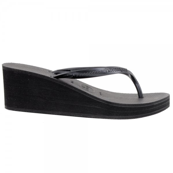 edbb8a418dede Havaianas Black Cyclone Women s Wedge Sandal