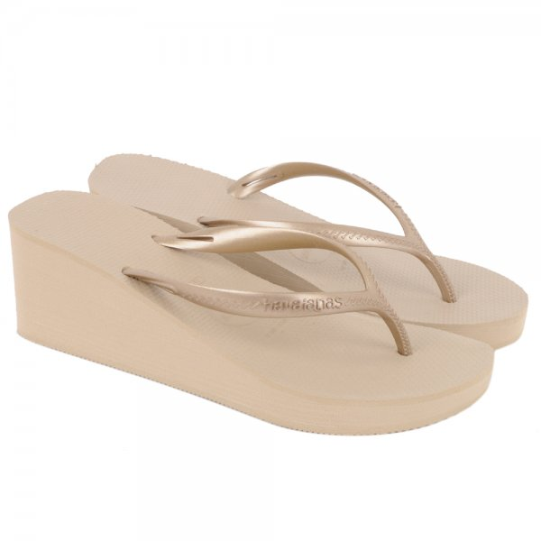 e2b93d56583 Havaianas Gold Cyclone Women s Wedge Sandal