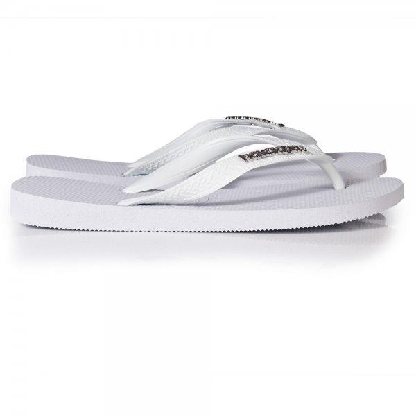 9f564f4e1008dc Havaianas White Logo Metallic Silver Womens Flip Flop