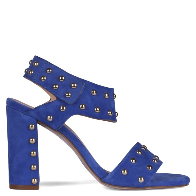 Havers Blue Suede Studded Sandals