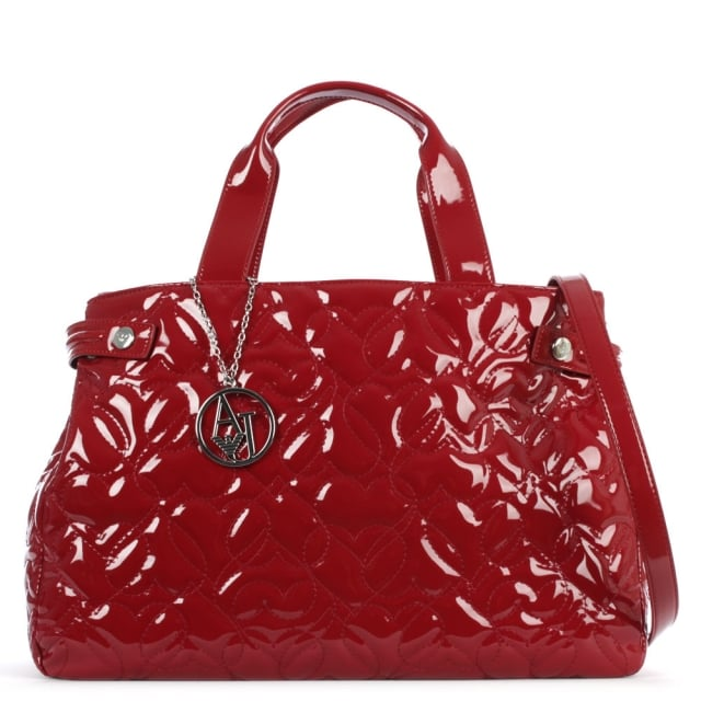 Heart Burgundy Patent Shopper