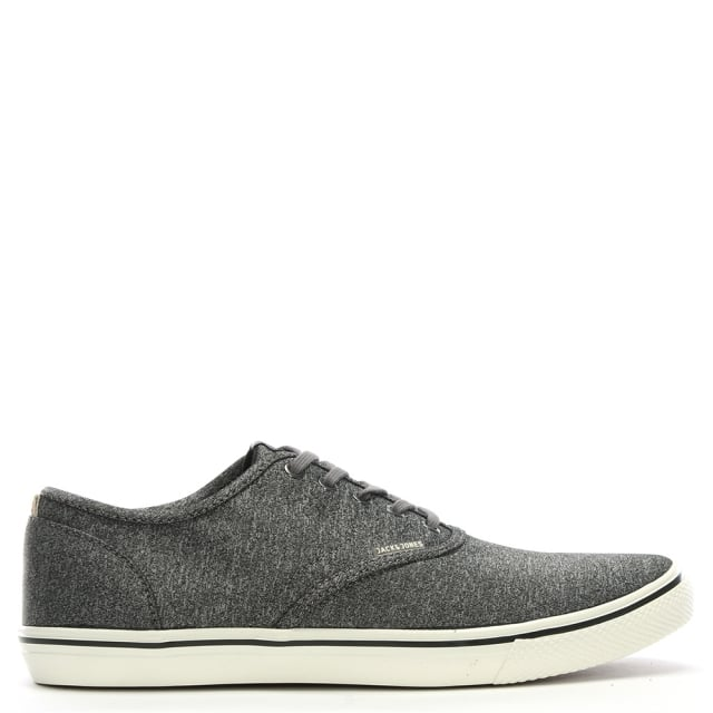 Jack & Jones Heath Grey Fabric Lace Up Sneakers