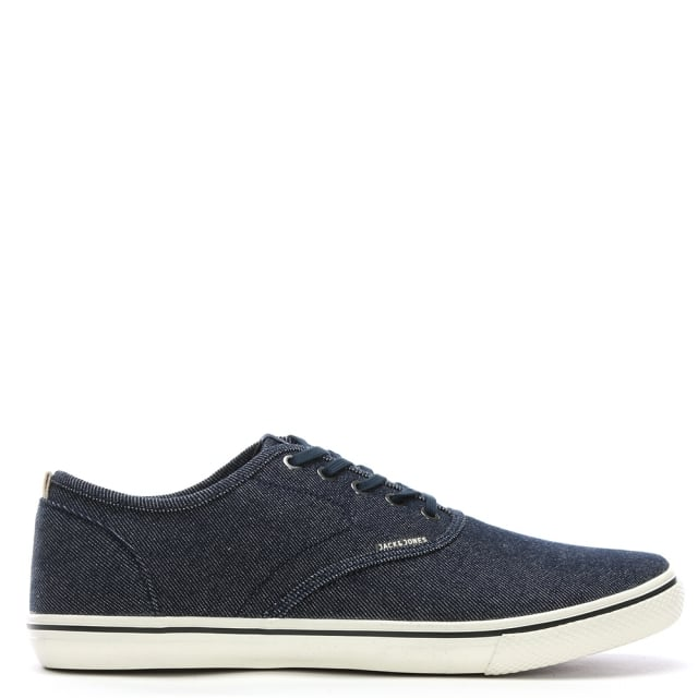 Jack & Jones Heath Navy Canvas Lace Up Sneakers