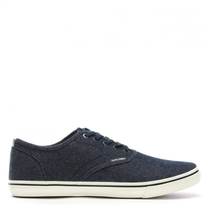 Heath Navy Canvas Lace Up Sneakers