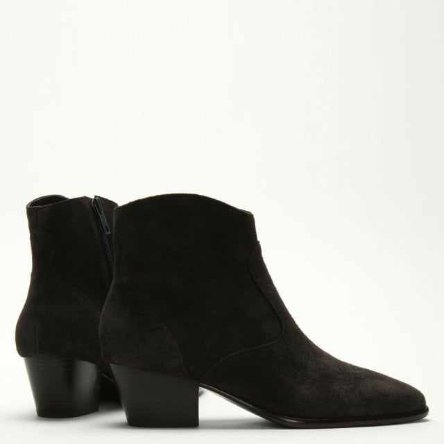 1d5e8b805a8 Heidi Bis Africa Suede Western Ankle Boots