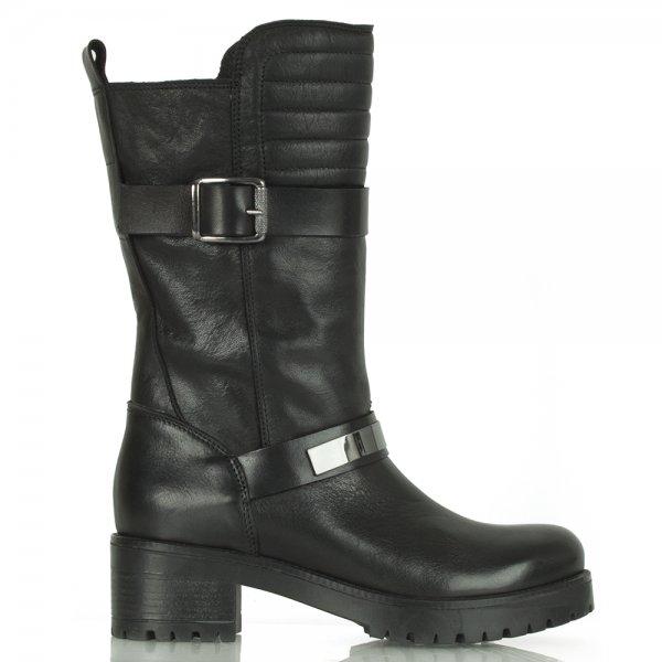 159c48d25 Daniel Helmet Chunky Black Leather Biker Boot