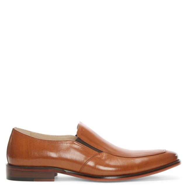 Henstridge Tan Leather Plain Loafer