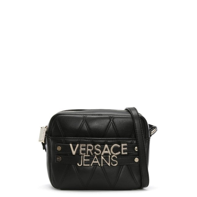 Versace Jeans Herd Black Quilted Logo Cross-Body Bag 485510345119a