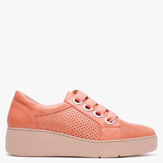 Wonders Hesket Pink Leather Perforated