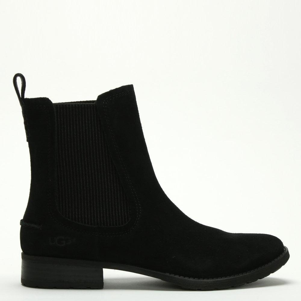 342efb3f601 Hillhurst Black Suede Chelsea Boots