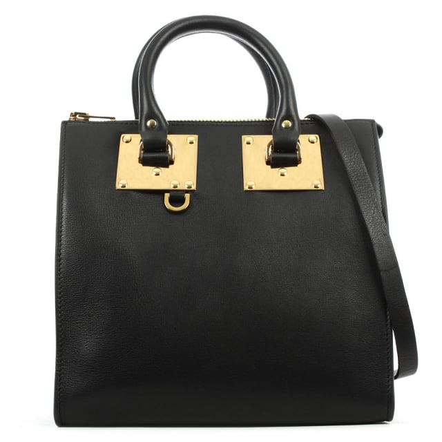 Holmes Medium Black Suede & Leather Tote Bag
