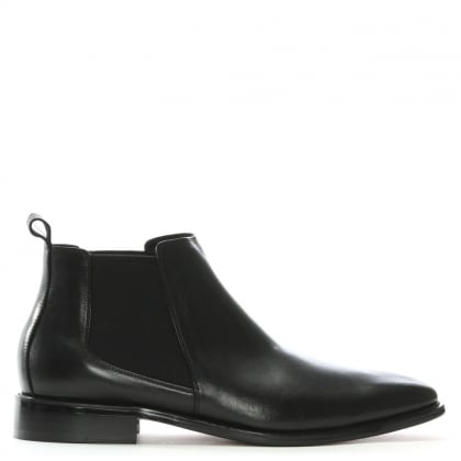 Honiton Black Leather Chelsea Boots