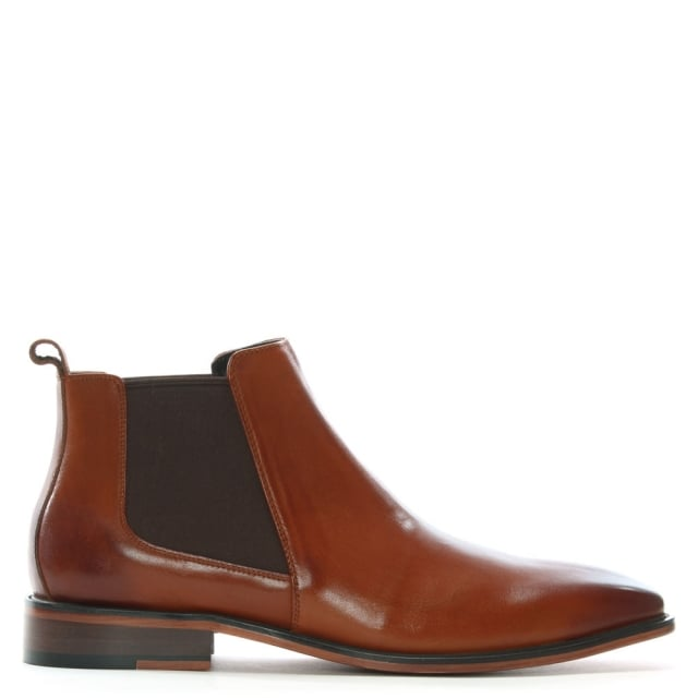 Honiton Tan Leather Chelsea Boots