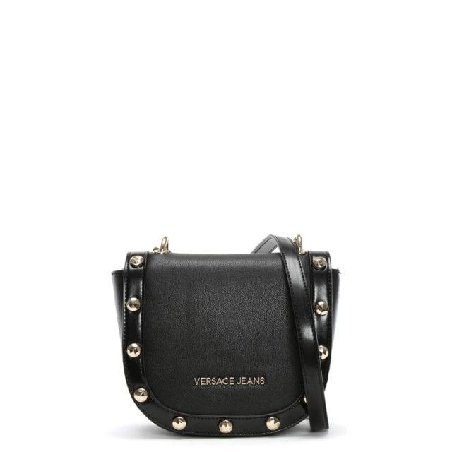 7e6159daed Versace Jeans Horseshoe Black Studded Cross-Body Bag