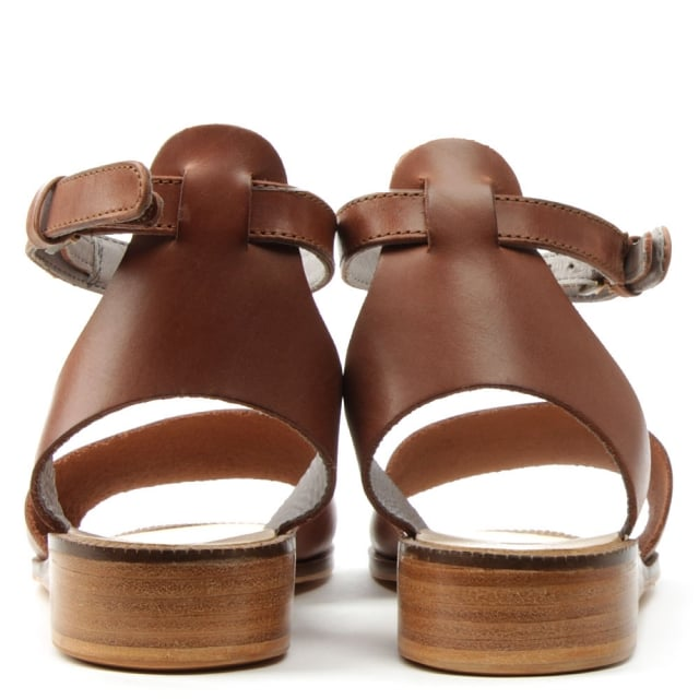 1e5da975c1b Hudson Fifa Tan Leather Ankle Strap Sandal