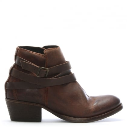 Hudson Horrigan Brown Leather Ankle Boot