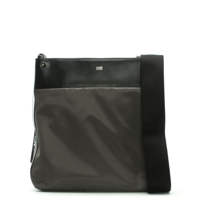 Hunter Black Nylon Cross-Body Bag