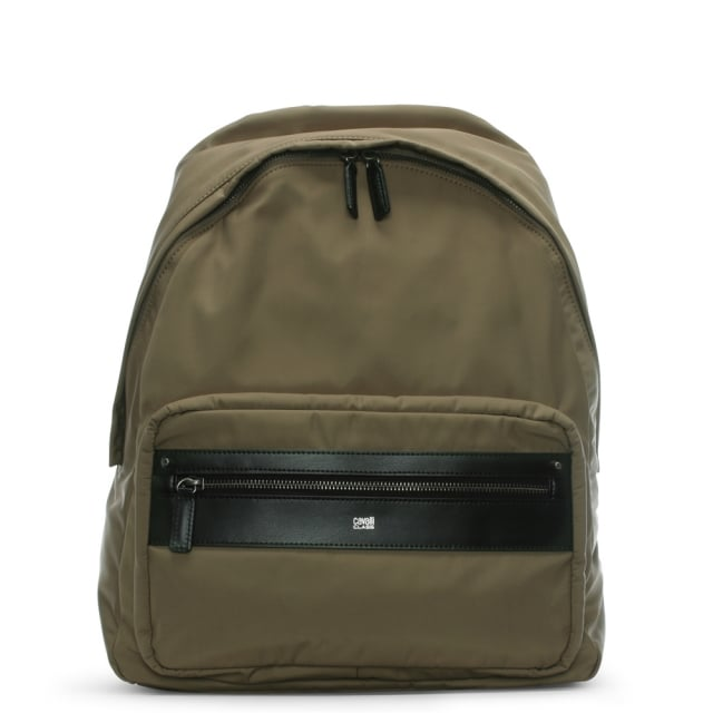 Hunter Khaki Nylon Backpack