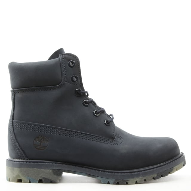 Icon 6 Inch Navy Nubuck Watercolour Outsole Boot