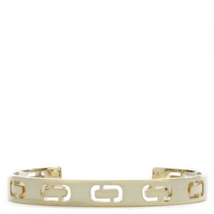 Icon Gold Tone Logo J Cuff