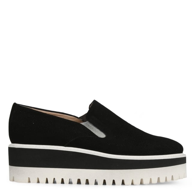 Impone Black Suede Sport Cleated Loafers
