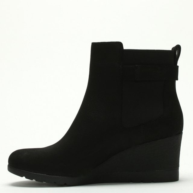 71e7ed028ce Indra Black Leather Wedge Chelsea Boots