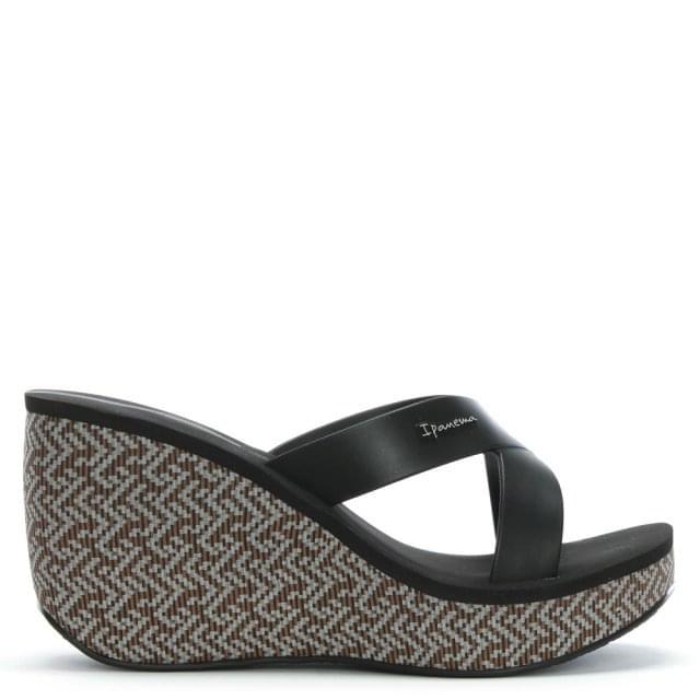 Ipanema Straps Black Wedge Sandals