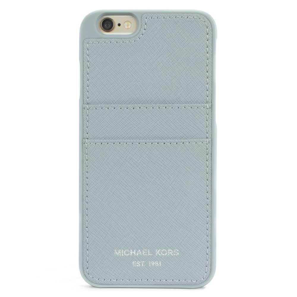 big sale 6e083 4c379 iPhone 6 Dusty Blue Saffiano Leather Phone & Card Case