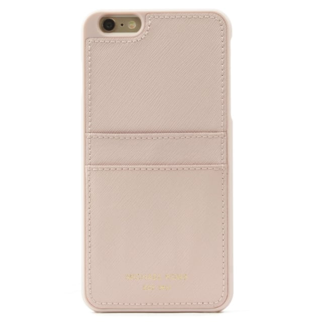 37416cd65278 Michael Kors iPhone 6 Plus Pale Pink Saffiano Leather Smartphone Case