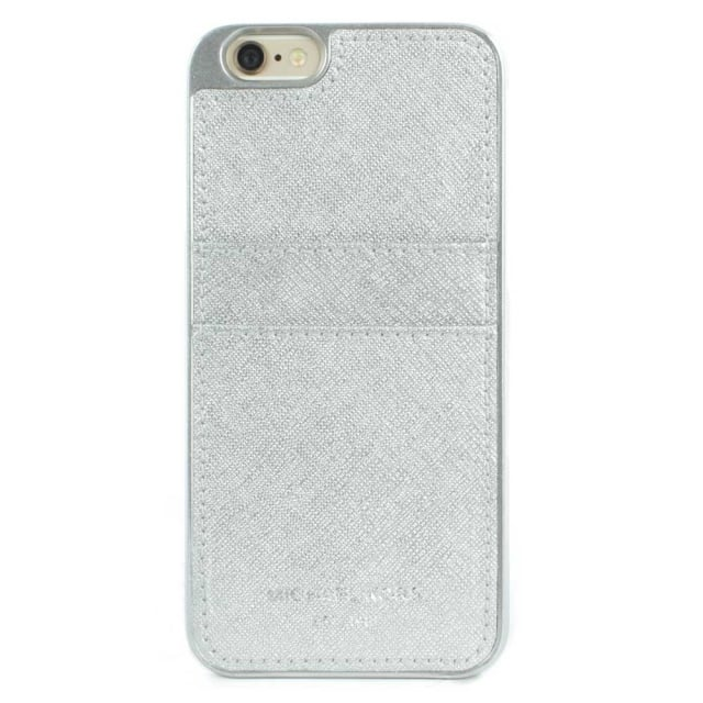 iPhone 6 Silver Saffiano Leather Smartphone Case