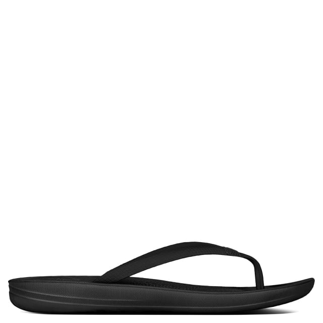 137d27a818db FitFlop Iqushion Black Toe Post Flip Flop