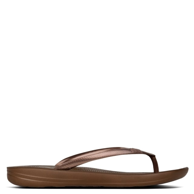 Iqushion Bronze Toe Post Flip Flops